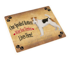 Spoiled Rotten Wire Fox Terrier Dog Tempered Cutting Board (Large) Db1617
