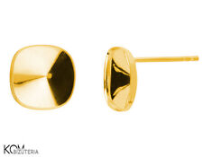 Stud earring for Swarovski 4470 10 mm KH 46 - gold-plated silver (1 pair)