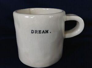 "Rae Dunn Boutique Mug / DREAM. / Rare! / Typewriter Print 3"""