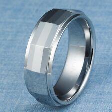 Tungsten Carbide Ring Mens Wedding Band Size 10.5
