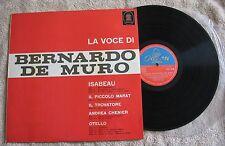 La Voce de Bernardo de Muro opera record LP album Odeon Italian pressing
