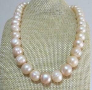 """20"""" AAA+ 12-13MM NATURAL PINK SOUTH SEA BAROQUE PEARL NECKLACE 14K gold"""