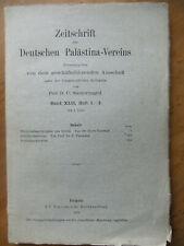 Zeitschrift des Deutschen Palästina-Vereins, 1919; Prof. D. C. Steurnagel
