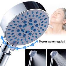 Cn _ 5-Gear Agua Baño Hogar Cabezal de Ducha Brillo Pulverizador Lluvia Boquilla