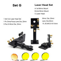 CO2 Laser Head Set Lens Holder with 20mm USA ZnSe Lens 20mm Si Mirror