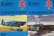 ICARE REVUE AVIATION LES FORCES AERIENNES FRANCAISES LIBRES  5 TOMES GUERRE WW2