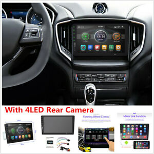 9in Touch Screen Car MP5 Player Stereo FM Radio Mirror Link +Rear Camera Kits