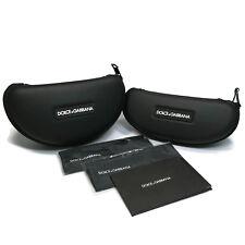DOLCE GABBANA Zippered Detachable Cord Eyeglasses Sunglasses Semi Rigid Cases