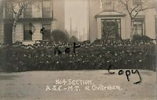 WW1 soldier group ASC Army Service Corps MT Company billeted in Cheltenham