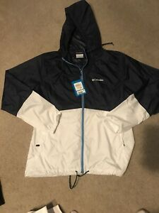 Women's Columbia jacket Navy And White Size small