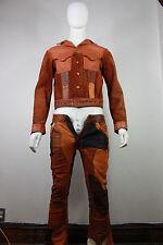 Vintage Santa Fe leather suit S jacket pants levis 646 whipstitch North Beach