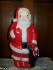 Santa Claus Christmas Vintage Hard Empire Plastic Blow Mold Retro 1968 Red