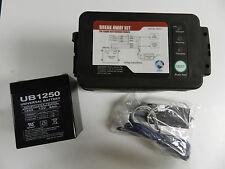 LED Trailer Electric Break Away Brake Kit 12V Battery Charger, NEW Free shipping
