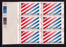 US USA Sc# 2003 MNH FVF PLATE # BLOCK Netherlands