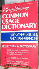 COMMON USAGE DICTIONARY FRENCH/ENGLISH R.WEIMAN 1985