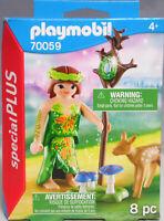 Playmobil Special Plus 70059 Elfe Fee mit Reh Zauberstab Pilze NEU