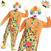 Adult Clown Costume Colorful Halloween Mens Clown Suit Masquerade Funny Costume