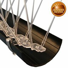 Defender Gutter Spikes | Gutter Guard | 6 m | Pigeon & Bird Spikes | Bird Guide
