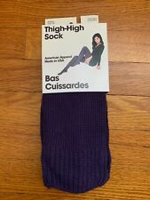 Vtg. American Apparel Thigh High Socks Imperial Purple New in Package USA Made