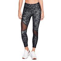Under Armour UA HeatGear Ladies Impulse Black Print Ankle Crop Leggings S