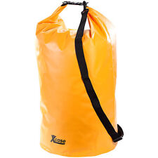 Packsack aus LKW-Plane: Wasserdichter Packsack 70 Liter, orange (Transportsack)