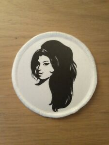 Amy Winehouse sublimation style iron or sew on 3 inch patch badge