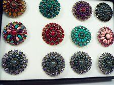 12 Box Set ring wholesale jewelry lot vintage style fashion Crystal Rhinestone f