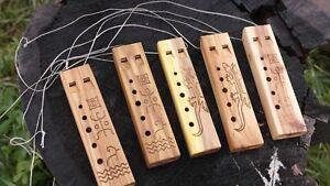 Double wooden Recorder ( pentatonic flute)