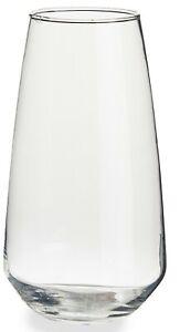 Transparent Grand Verre Vase Fleur Décoration Table Centre Hauteur 20cm Conique