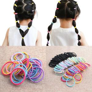100pc no crease baby girl hair elastics ties ponytail holder hair bands bulk tie
