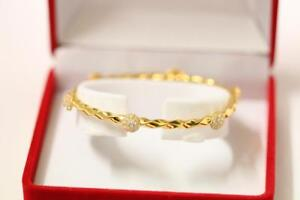 916/22ct sparkling attractive indian gold bangle bracelet *Boxed*