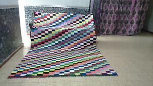 Vintage Moroccan Handmade Rug Beni Ourain Berber Carpet Tribal Rug 6 x 9 ft