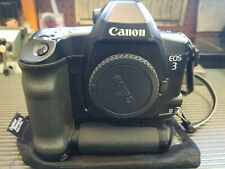 Canon Eos 3 Professional Film Camera With Power Booster and Storage Carry Bag