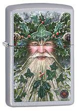 Zippo Lighter: Anne Stokes Christmas Spirit - Satin Chrome 77598