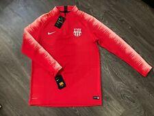 Nike FC Barcelona Vaporknit 18/19 1/4 Zip Drill Jacket Top L $120 NEW 894188-691