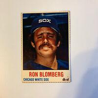 1978 Hostess Ron Blomberg # 147 Chicago White Sox MLB Baseball Card Hand Cut
