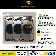 🔝Scocca Telaio Vetro Posteriore Apple iPhone 8 Back Cover Housing + Flex Cable