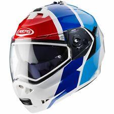 Motorrad Helm Caberg Duke II Impact Farbe:Weiß/Dunkelbau/Hellblau/Rot Gr:M (57)