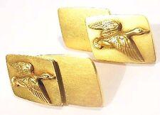 1940s Shreve & Co 14K Gold Cufflinks ~ Ducks Geese 15.4 Gram Vintage Yellow Fowl