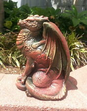 "Mythical Dragon Statue 11"" Sculpture Home Garden Decor"