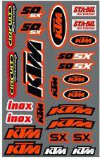 MCS  Mx Economy KTM 50 SX Graphics Sheet Motocross Bike Sticker Kit