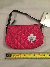 "Toronto Maple Leafs Womens "" Pink Quilted Purse . Tote Bag NHL Raptors Ladies"