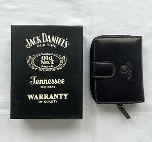 JACK DANIELS leather wallet with box retro