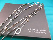 Silpada Jewelry ~ Dewdrops Necklace Hematite  Sterling Silver  Retired  # N2097