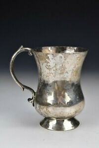 18th Century Spanish Colonial Silver Handled Cup Signed