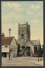 Postcard Kingston Upon Thames early view of Parish Church and shop