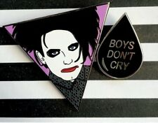 The Cure Robert Smith Pin Badges Boys Don't Cry,  Friday I'm In Love, Lovecats..