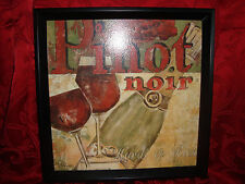 Bed Bath & Beyond 13 x 13 Framed Wall Art French Words= Pinot NoirHardi et Rich