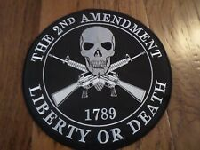 2nd AMENDMENT LIBERTY OR DEATH OVERSIZE EMBROIDERED BACK PATCH 12X12 INCHES
