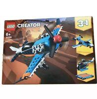 Lego 31099 Creator 3in1 Propeller Plane Jet - Helicopter - Aeroplane Playset